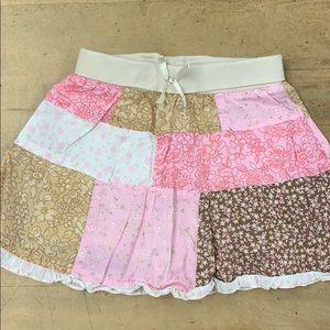 Toddler Girls Patchwork Skirt